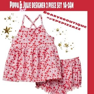 PIPPA & JULIE Red stars matching outfit